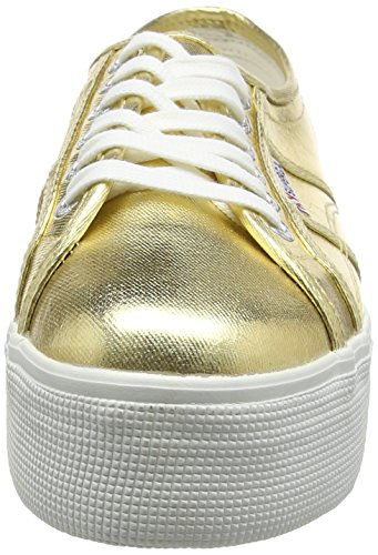 Superga 2790 Cotmetw Ladies Sneaker Goldfarben