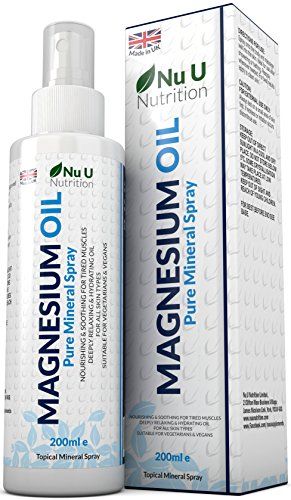 Magnesium Oil Spray 200ml Pure Mineral Spray from Magnesium Chloride...