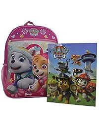 "Nickelodeon Paw Patrol Girl's Kid's 15"" School Backpack Travel Bag w/ Bonus Pocket Folder"