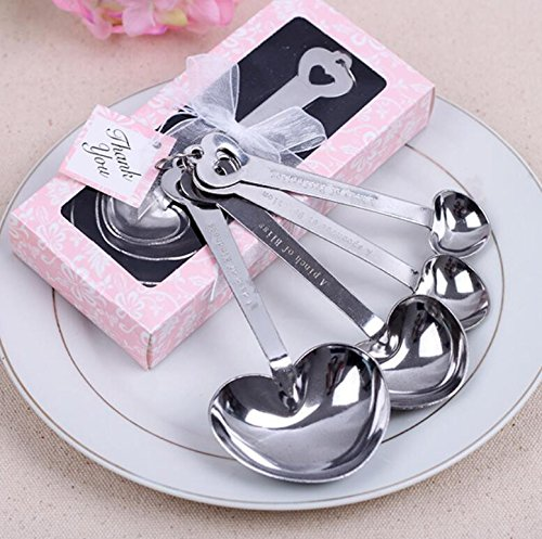 Love Heart-Shaped Measuring Spoons For Wedding Favor and baby shower, Set of 96 by cute rabbit