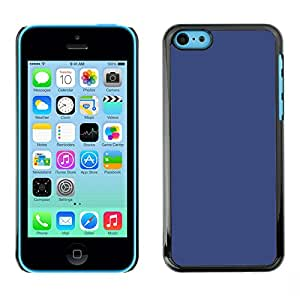 MOBMART Carcasa Funda Case Cover Armor Shell PARA Apple iPhone 5C - Plain Blue Color Design