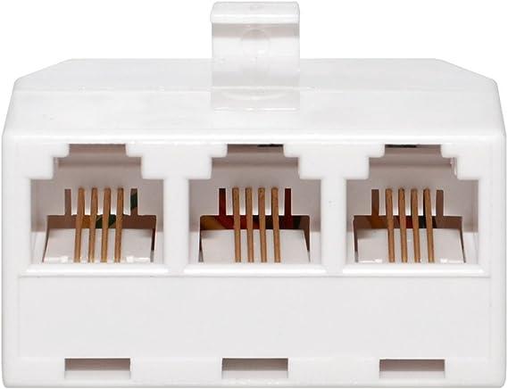 GC Triplex 3 Line Wall Jack Splitter Adapter 30-9656 for Telephone Phone Modem