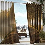 Best quality: These motif pattern thermal insulated curtains are upgraded and beyond normal ones, innovated soft and smooth material. ensure the hand touch is silky and has a beautiful / pleasant feel to it that complements most decor. Perfect for th...