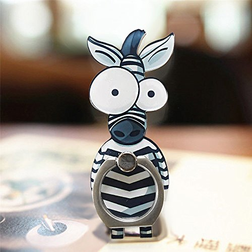 Cute Zebra - Cell Phone Finger Ring Holder Cute Animal Smartphone Stand 360 Swivel For Iphone, Ipad, Samsung HTC Nokia Smartphones, Tablet (Zebra)