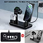 Charging Station for Apple Watch iPhone & Airpods,YoFeW Charger Stand for iWatch Series 5/4/3/2/1, AirPods and iPhone 11…