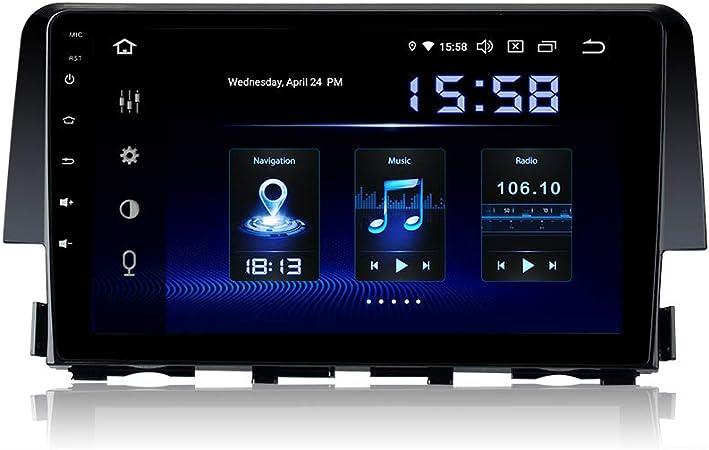 Dasaita 9 Zoll Android 9 0 1 Din Autoradio Bluetooth Eingebaut Dsp 4g Ram 64g Rom Für Honda Civic 2015 2016 2017 Dab Autoradio Haupteinheit Unterstützung Gps Wifi Usb Carplay Mirror Link Rverse Kamera Navigation