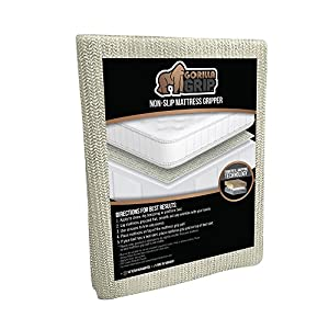 The Original Gorilla Grip (TM) Mattress Gripper, Available in Queen, Full, King, Futon, Cal King, Full Twin, and Twin XL, Locks Mattress In Place, 10 Year Guarantee. (King)