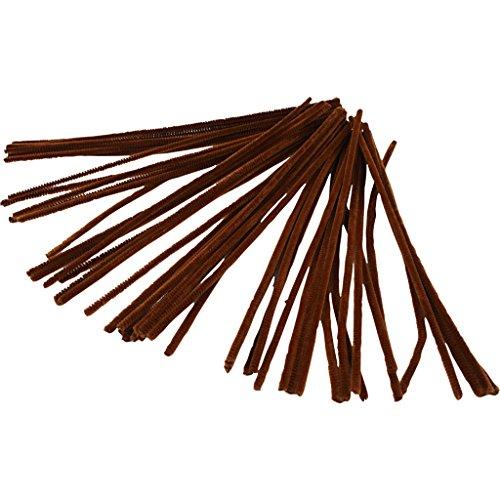 Limpiapipas, grosor 6 mm, L: 30 cm, marrón, 50 unidades