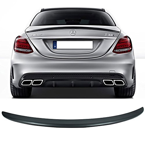 - Pre-painted Trunk Spoiler Fits 2015-2018 W205 Trunk Spoiler OEM Painted Designo Magno Platin Metallic # 051 Rear Tail Lip Deck Boot Wing Other Color Available By IKON MOTORSPORTS | 2016 2017