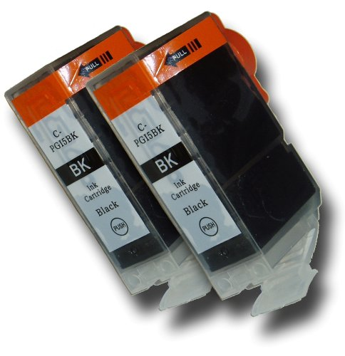 2 Chipped Black Compatible High-Capacity Canon PGI-5Bk Ink Cartridges for Canon Pixma MX700 Printer