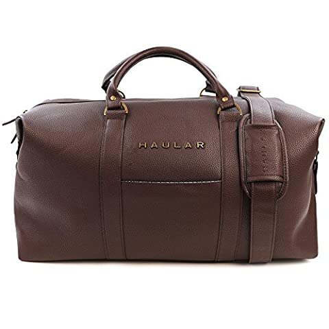 Weekender Bag, Haular Overnight Travel Carry On Duffel Tote Bag [Brass Finishing] Canvas - (borse e valigie Borse)