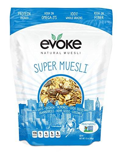 Evoke Super Muesli Cereal, 12 oz - Enjoy cold or hot! Overnight Oats!