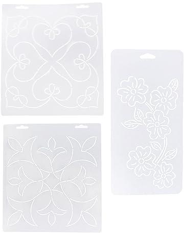 Sharplace 3 plantillas de plantillas de acolchado Plasitc para bordado artesanal de costura Patchwork