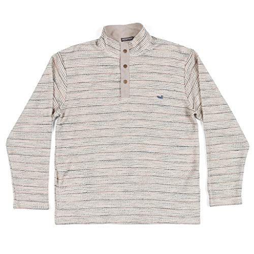 Southern Marsh Pawleys Rope Pullover-Oatmeal Stripes-Medium