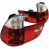 Spec-D Tuning LT-X500RPW-APC BMW X5 4Door Euro Chrome Red/Clear Lens Rear Tail Brake Lights Pair