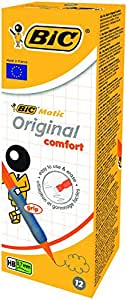 BIC Matic Fun Comfort - Caja de 12 portaminas con mina HB 0,7mm