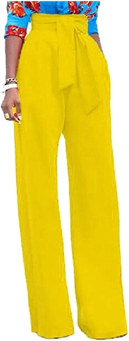 VITryst Women Elegant Fashional Work OL Straight Wide Leg High Waisted Pants