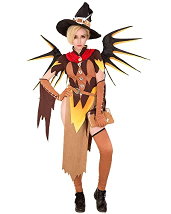 Amazon Com Miccostumes Women S Witch Mercy Cosplay Costume Outfit