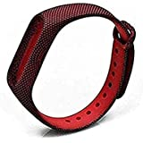 CellFAther Printed Silicone Wristband for Mi 3/4 Strap (Red Python Lines)