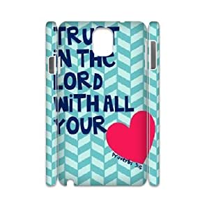 3D Bible Series, Samsung Galaxy Note 3 Cases, Bible Verse Posters Cases for Samsung Galaxy Note 3 [White]