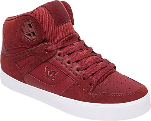 Dc Mens Puro High-top Wc Pattino Da Skate Bordeaux