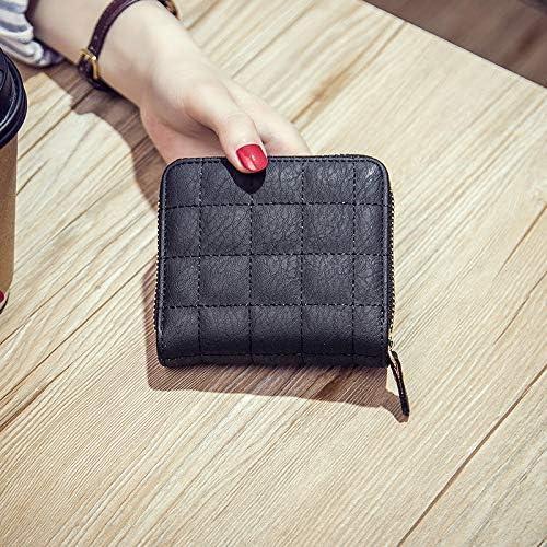 2018 New Mini Wallet Zipper Lovely Purse Square Casual Zipper Female Coin Purse Short Student Card Holder carteira Feminina Gimax Coin Purses Color: redred