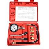Aeanm Vehicle Vacuum Pressure Gauge, Hand Held Fuel Pump & Vacuum Tester Gauge Leak Carburetor Pressure Diagnostics with Case for Automotive (B)