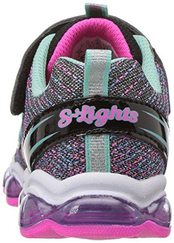 Sneaker Skechers Kids' Lights Noir Kids Multi Glimmer OHCWFHn47