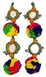 Pompom & Beaded Decorative Accessory Blouse Latkans Tassels Craft Supply 1 Pair