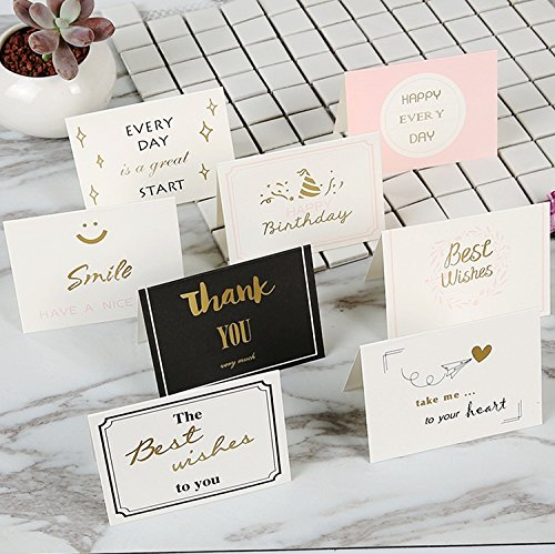 Price comparison product image Mecar 10 Pack Exquisitely Festival Greetings Cards with Unique Font and Blessing Designs - Great for Adults & Children,Valentine's Day,Anniversary,3.7 x 2.7 inches