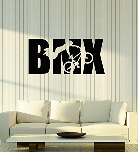 Vinyl Wall Decal BMX Bike Biker Teenage Teen Boy Room Decoration Art Stickers Mural Large Decor (ig5564)
