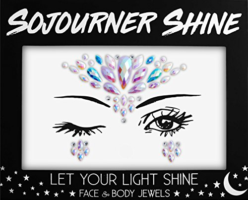Face Jewels Glitter Gems Rhinestones – Eye Body Jewels Gems | Rhinestone Stickers | Body Glitter Festival Rave & Party Accessories by SoJourner (Pixie Princess)