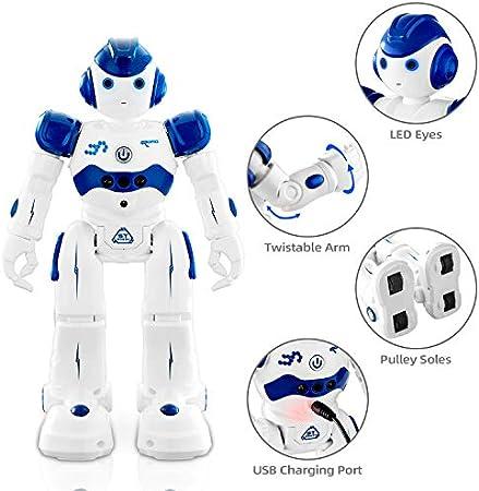 NEWYANG Robot de Juguete - Juguete Educativo electrónico Recargable Robot Juguete,Control Remoto Inteligente Programable Gesto Control Robot con Sensor de Movimiento,Juguete de Regalo para Niños