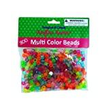 Multi-Color Crafting Pony Beads 24/Pack (2 Pack)