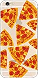 iPhone 8 / 7 Compatible , Colorful Flexible Ultra Slim Translucent Apple iPhone Case Cover - Pizza Overload