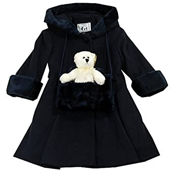 Amazon.com: Trilogi Collection Girls Navy Wool Coat (2T ...