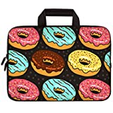 """Universal 7 - 9 inch Kid Tablet Sleeve Portable, Neoprene Carrying Sleeve Case Bag For 7"""" 8"""" 8.5"""" 8.9"""" 9"""" Amazon Tablet,Fire HD 8,Tablet Notebook (Bread Donuts)"""