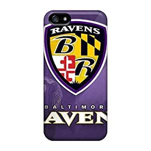 Hot OFU1155kSty Baltimore Ravens Cases Covers Compatible With Iphone 5/5s