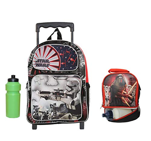 - Star Wars The Force Awakens Rolling Backpack with Bonus lunch case