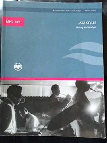 MHL 145 (RIO SALADO COLLEGE) JAZZ STYLES: HISTORY AND ANALYSIS 9TH EDITION