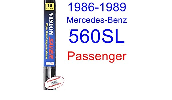 Amazon.com: 1986-1989 Mercedes-Benz 560SL Wiper Blade (Passenger ...