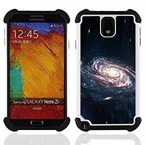 GIFT CHOICE / Defensor Cubierta de protección completa Flexible TPU Silicona + Duro PC Estuche protector Cáscara Funda Caso / Combo Case for Samsung Galaxy Note 3 III N9000 N9002 N9005 // Space Galaxy //