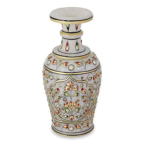 NOVICA 'Vintage Mughal' Marble Decorative Vase