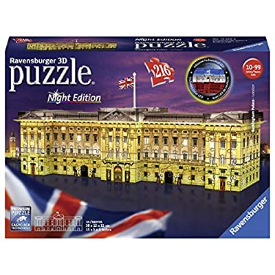Ravensburger 12529 Buckingham Palace Night Edition Puzzle 3d