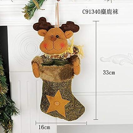 Top Shishang 1pcs Lujo Personalizado Bordado a Mano de Navidad Media 3D de Santa Claus/
