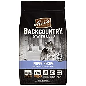 Merrick Backcountry Grain Free Raw Infused Puppy Dry Food, 22 Lbs.