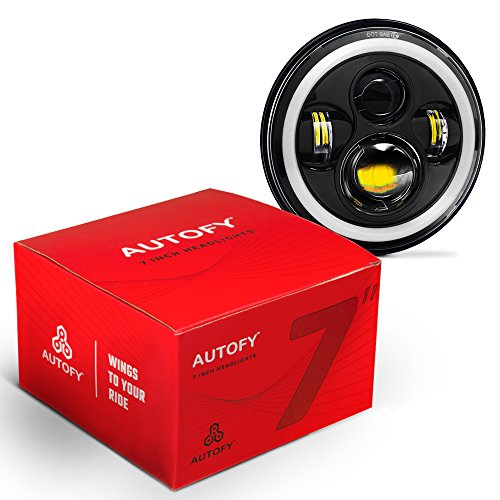 Autofy 7 Inch 4 LED Headlight with....