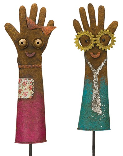 ovy Glove Garden Stake - Pink & Blue (Groovy Gift)