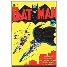 "DC Comics Silver Buffalo BN0736 No.1 Batman Wood Wall Decor, 13"" x 19"""