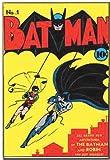 Silver Buffalo BN0736 DC Comics No.1 Batman Wood Wall Decor, 13 x 19 inches